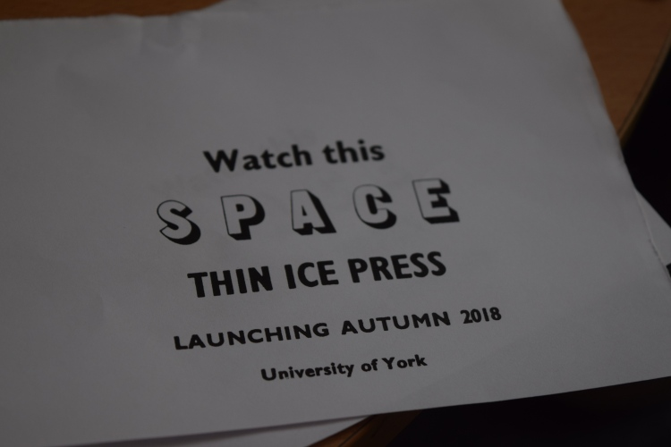 First imprint by the Thin Ice Press, at the University of York