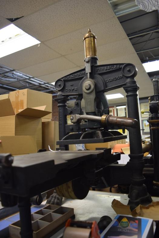 The Logan Press - table top Albion Printing Press