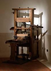 Printing press at the British Library